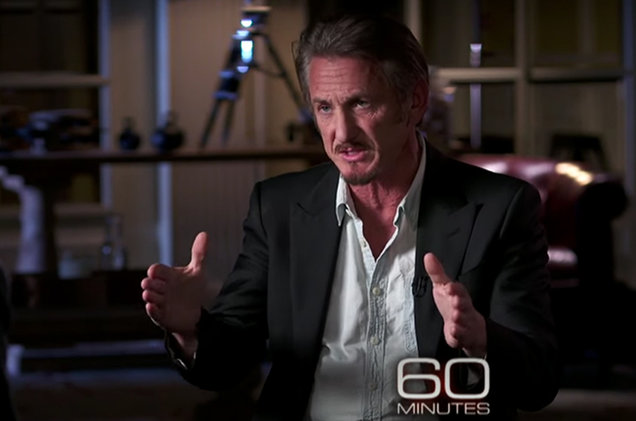"Sean Penn on ""60 Minutes."""
