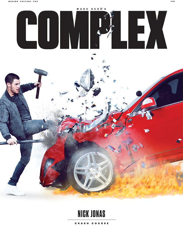 Nick Jonas for the cover of the latest issue of Complex magazine.