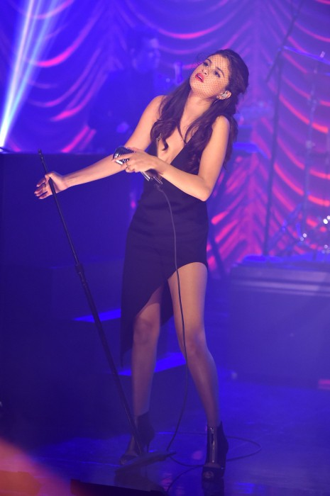 Selena Gomez photographed in a recent performance.