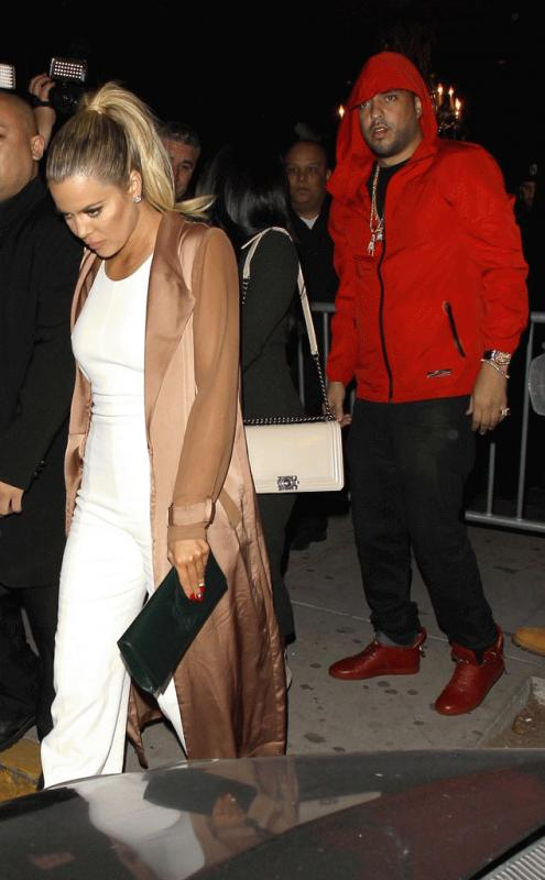 Khloe Kardashian with French Montana in a recent get together.
