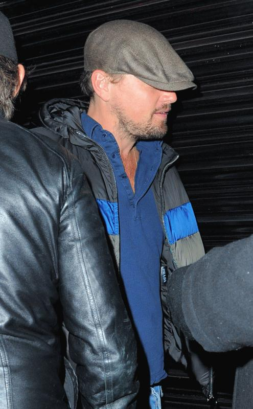 Leonardo DiCaprio spotted outisde Up & Down night club in NYC.