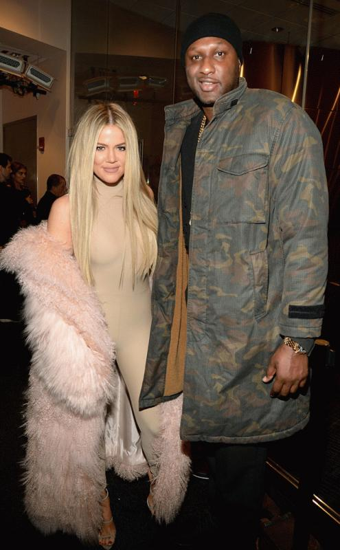 Khloe Kardashian and Lamar Odom at the Yeezy Season 3 fashion show at New York Fashion Week.