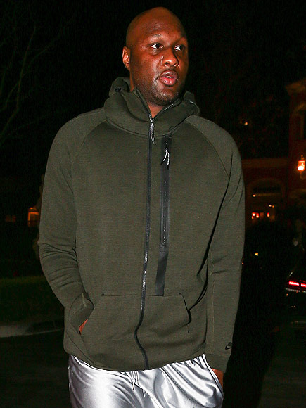 Lamar Odom spotted alone in Los Angeles on Monday night.