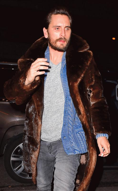 Scott Disick photographe in New York City after partying until 5 A.M.