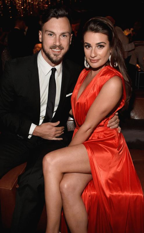 Matthew Paetz and Lea Michele photographed together in an undated snap.