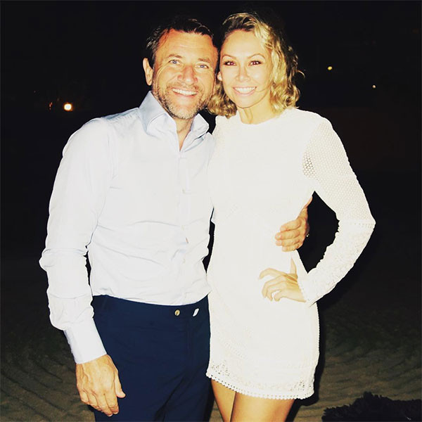 Kym Johnson and fiance Robert Herjavec in an undated photo.