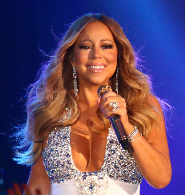Mariah Carey photographed during one of her performances for her Las Vegas residency.