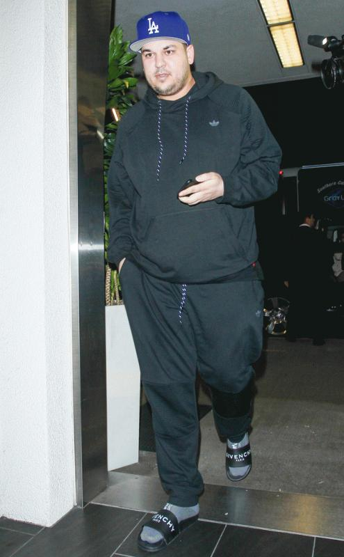 Rob Kardashian seen at the LAX before he and girlfriend Blac Chyna flew to Jamaica over the weekend.