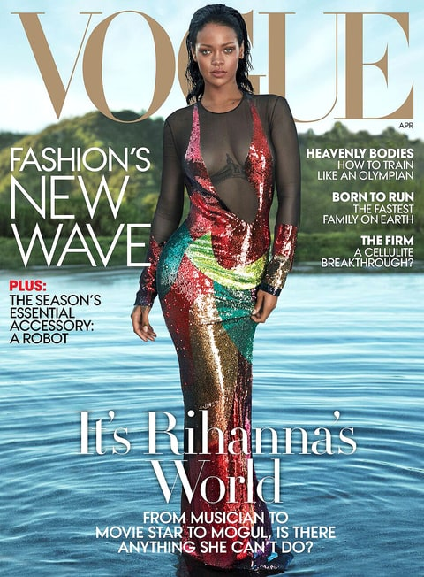 Rihanna for the latest edition of Vogue.