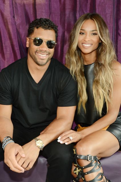 Ciara and Russel Wilson at the Cosmopolitan Hotel