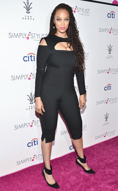 Tyra Banks attends the Simply Stylist conference in Los Angeles.
