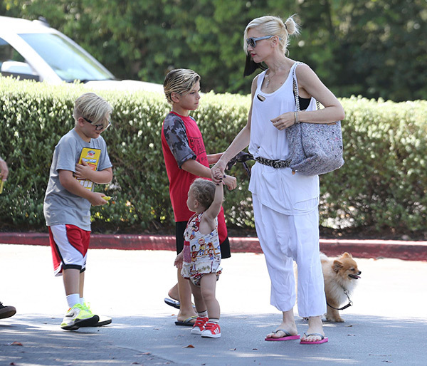 Gwen Stefani in an undated photo with her children.