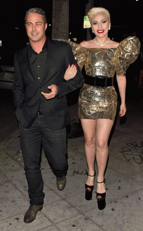 Lady Gaga and Taylor Kinney photographed together during her birthday celebration over the weekend for her 30th birthday.