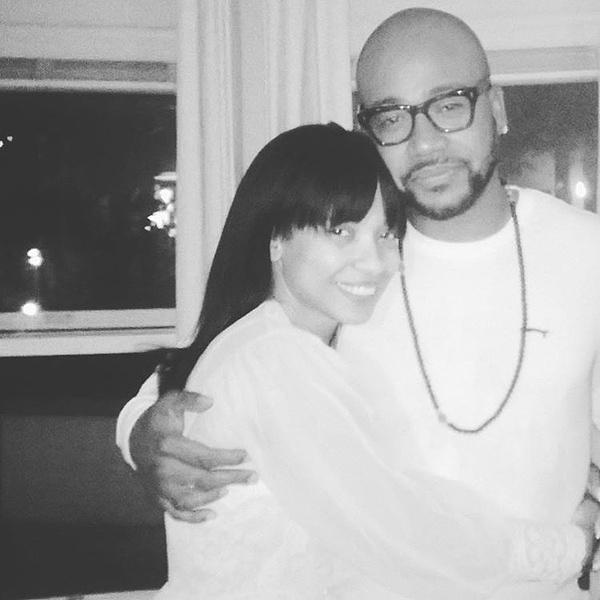 Karrine Steffans and Columbus Short in an undated photo.