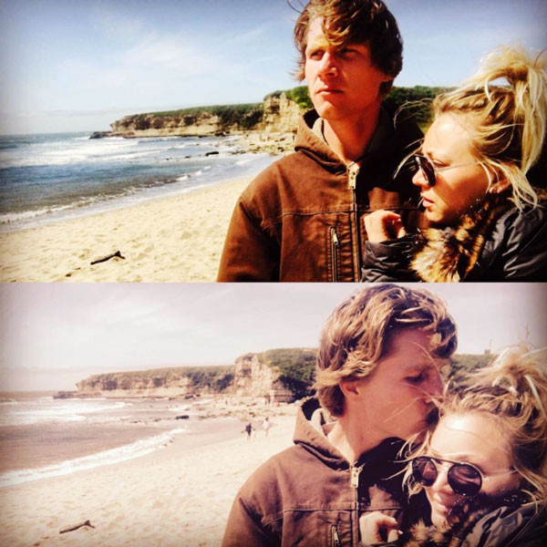 Kaley Cuoco and Karl Cook in a throwback photo.