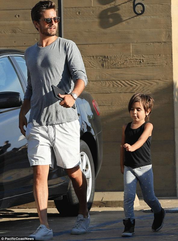 Scott Disick with his son Mason in an undated photo.