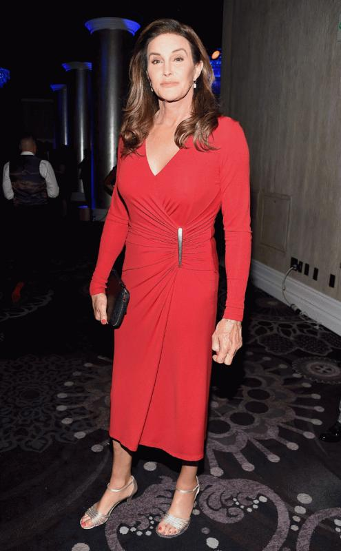 Caitlyn Jenner photographed at the 2016 GLAAD Media Awards.
