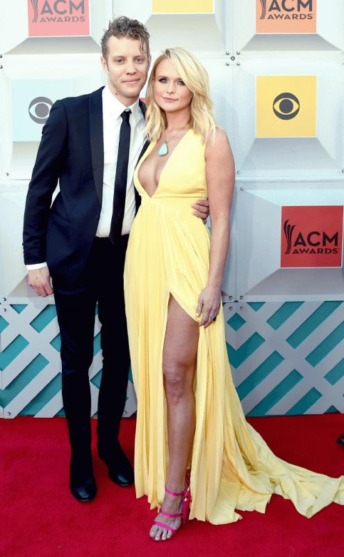 Miranda Lambert and Anderson East at the red carpet of the 2016 Academy of Country Music Awards.
