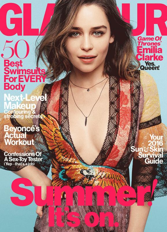 Emilia Clarke for Glamour magazine's latest issue.