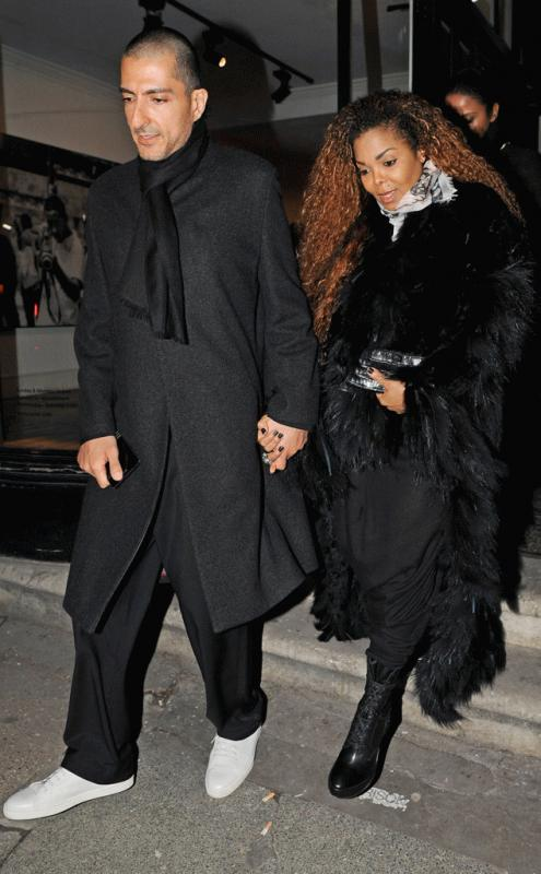 Janet Jackson with her husband photographed earlier this year in a rare public appearance.