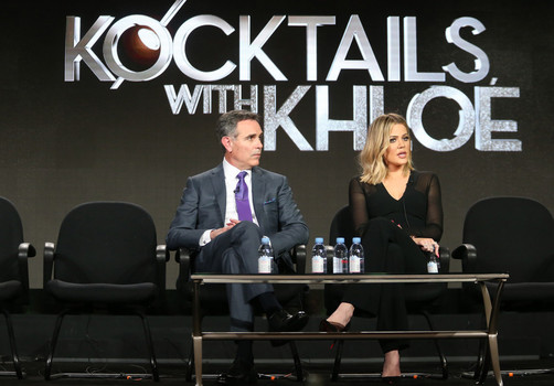 "Khloe Kardashian as seen in a photo while she was promoting her FYI show ""Kocktails With Khloe."""