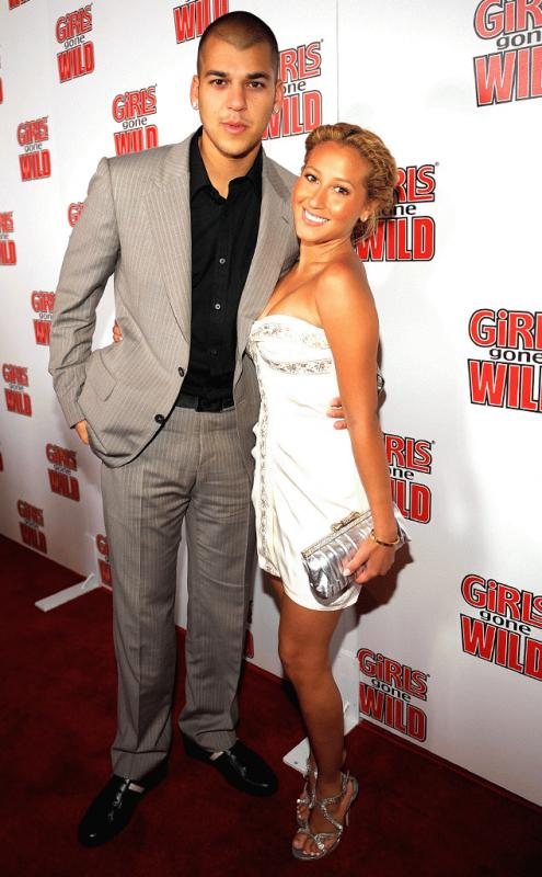Adrienne Bailon and Rob Kardashian in an undated photo when they were still together.
