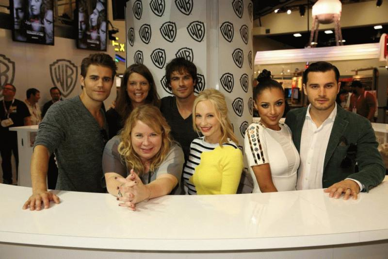 "A photo showing the cast of ""The Vampire Diaries."""