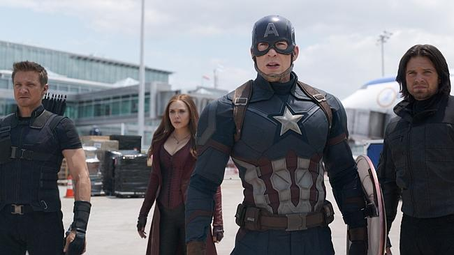 """Some of the Marvel superheroes from the film """"Captain America: Civil War."""""""