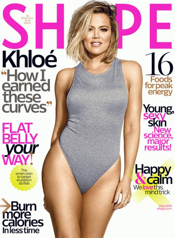 Khloe Kardashian for Shape magazine's May 2016 issue.