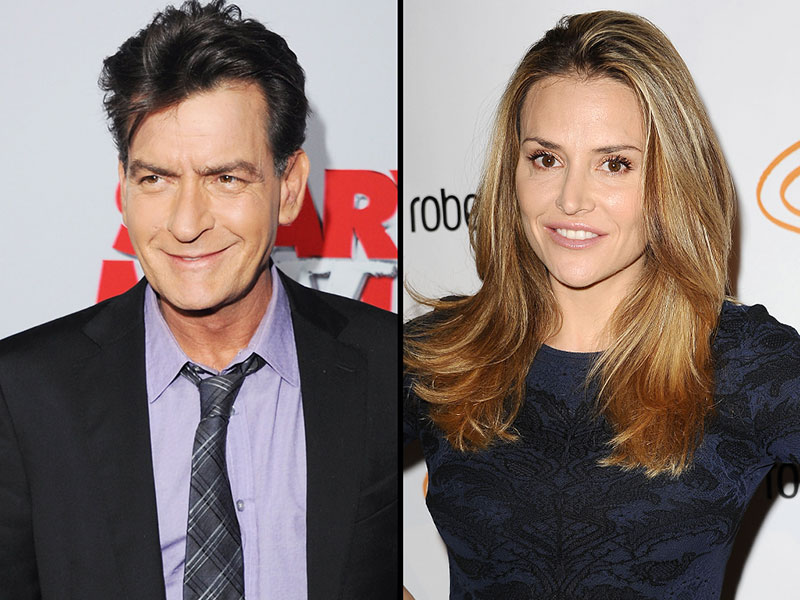 Charlie Sheen and Brooke Mueller in an undated photo.