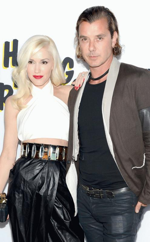 Gwen Stefani and Gavin Rossdale photographed during happier times.