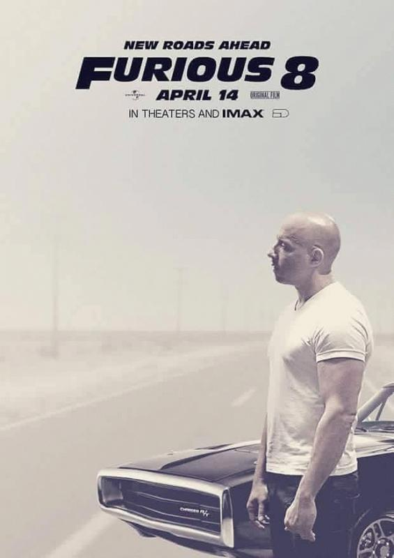 A poster posted by Vin Diesel for 'Furious 8.'