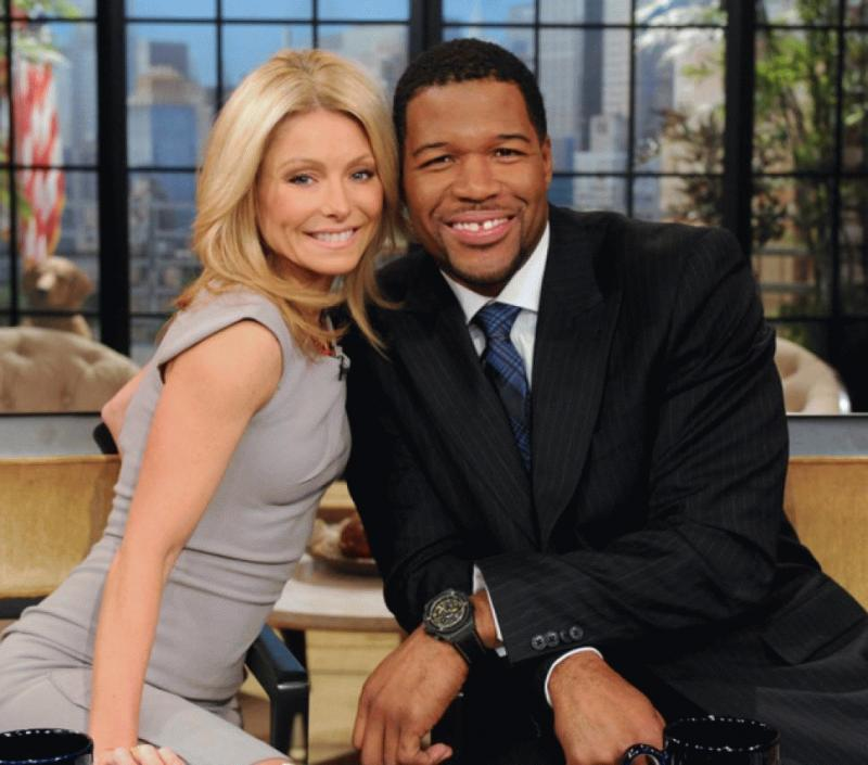 Kelly Ripa with Michael Strahan in an undated photo.