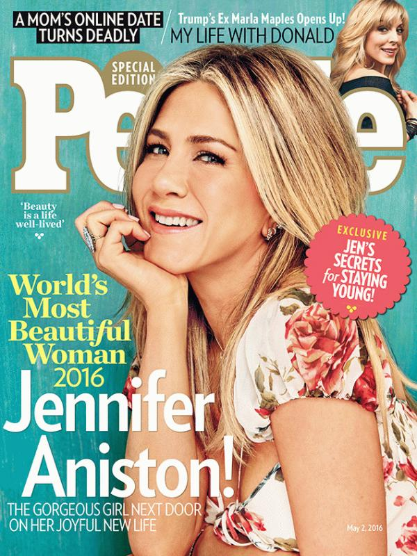 """Jennifer Aniston graced the cover of People magazine's latest issue as she was named as """"World's Most Beautiful Woman"""" for this year."""