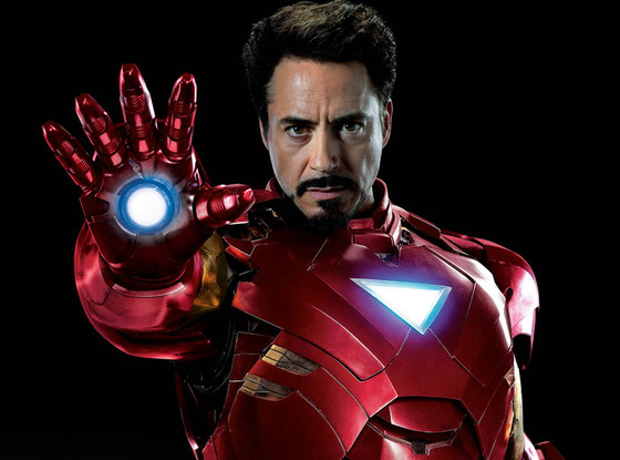 Robert Downey Jr. as Iron Man.