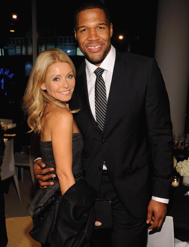 Michael Strahan and Kelly Ripa in an undated photo.