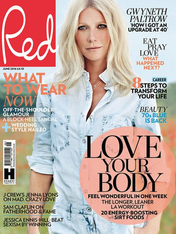Gwyneth Paltrow for Red magazine's June issue.