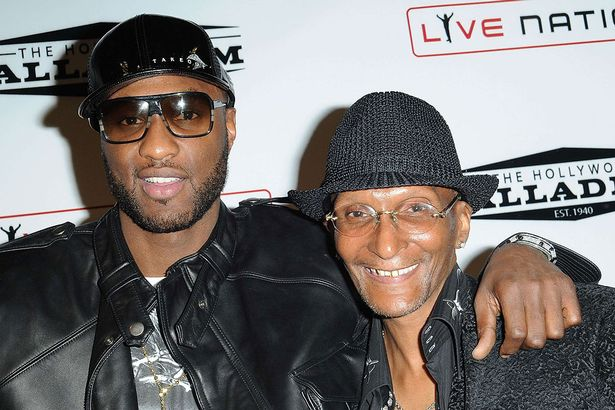 Lamar Odom with his father Joe in an undated photo.