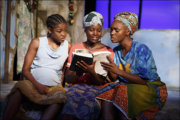 "Pascale Armand, Lupita Nyong'o and Saycon Sengbloh in ""Eclipsed."""