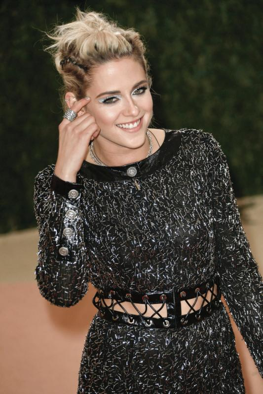Kristen Stewart photographed during this year's Met Gala.