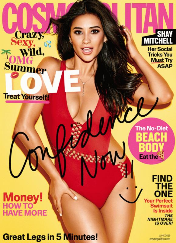 Shay Mitchell in the latest edition of Cosmopolitan magazine.