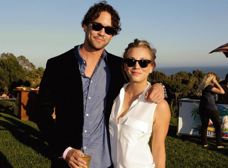 Kaley Cuoco photographed with her former husband Ryan Sweeting during happier times.