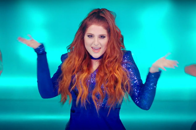 """Meghan Trainor in a screen shot from the """"Me Too"""" music video."""