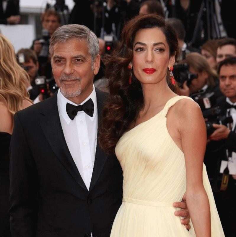 George and Amal Clooney at the 2016 Cannes Film Festival in France.