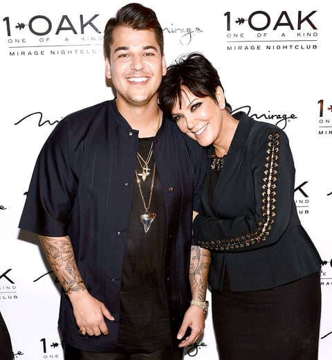 Rob Kardashian with his mom Kris Jenner in an undated photo.
