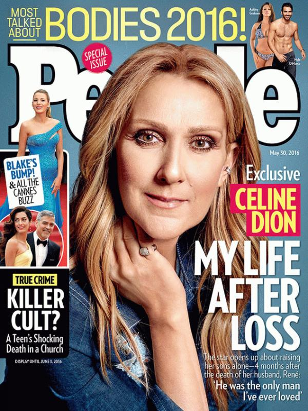 Celine Dion on the latest cover of People magazine.