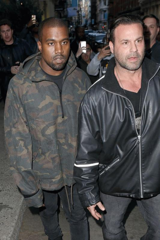 Kanye West and his former bodyguard Steve Stanilus in an undated photo.