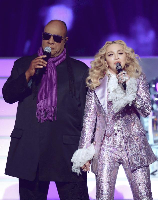Madonna and Stevie Wonder took the stage to pay tribute to Prince during the 2016 Billboard Music Awards.