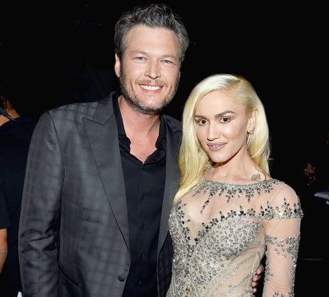 Blake Shelton and Gwen Stefani in an undated photo.