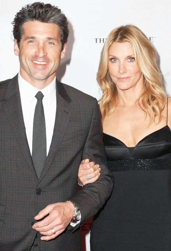 An undated photo showing Patrick and Jillian Dempsey.